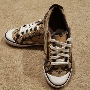 Coach Signature Canvas Sneakers
